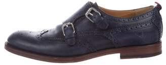 Gucci Leather Round-toe Oxfords