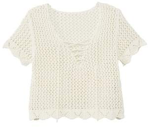 MANGO Open knit top