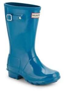 Hunter Kid's Glossed Rubber Rain Boots