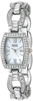 "Badgley Mischka Women's BA/1337WMSB ""Amazon Exclusive"" Swarovski Crystal-Accented Watch With Open-Link Bracelet"