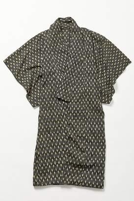 Urban Renewal Vintage Black + Yellow Patterned Yukata Kimono