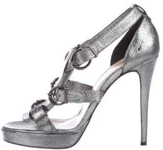 Christian Louboutin Metallic Lima 120 Sandals