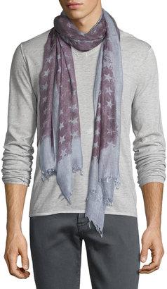 John Varvatos Cashmere-Blend Star-Print Scarf $60 thestylecure.com