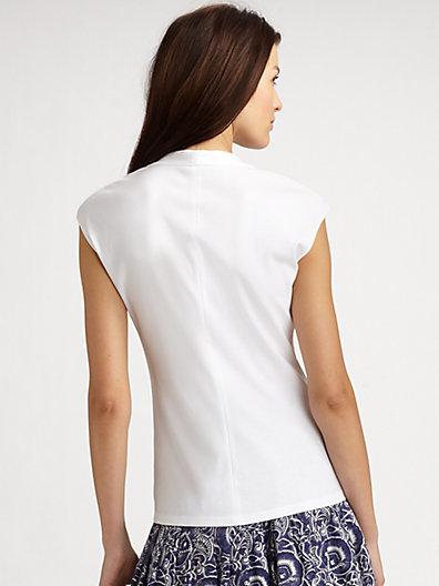 Lafayette 148 New York Giada Stretch-Cotton Top