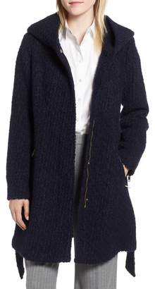 Cole Haan Belted Boucle Wool Blend Coat