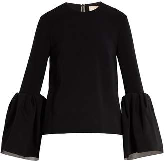 Roksanda Truffaut bell-sleeved stretch-cady top