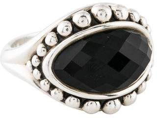 Lagos Onyx Doublet Cocktail Ring