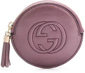 Gucci GG embossed circular purse