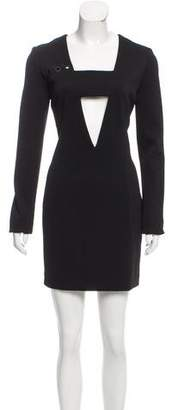 Anthony Vaccarello Cutout Grommet Dress