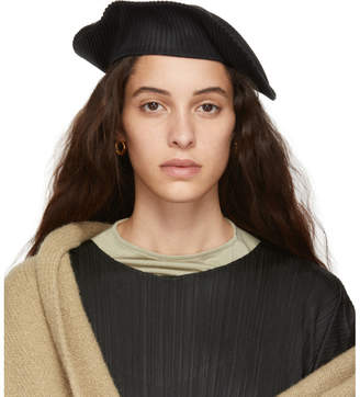 Pleats Please Issey Miyake Black Pleated Beret