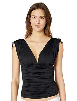 La Blanca Women's Island Goddess Convertible Tie Strap Tankini Swimsuit Top,6
