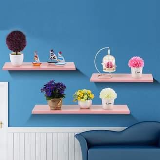 HILLDA 3 PCS/Set Wall Floating Board Home Storage Shelves Book Shop Display Shelf