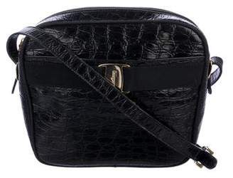 Salvatore Ferragamo Embossed Leather Shoulder Bag