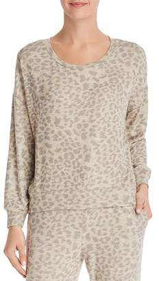 Sundry Leopard Print Sweatshirt
