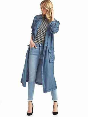 TENCEL drapey trench $138 thestylecure.com