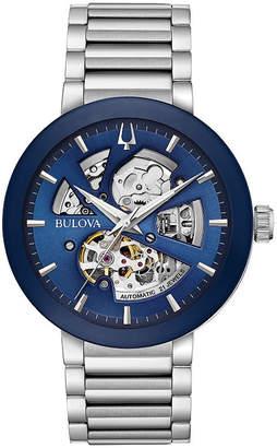 Bulova Mens Silver Tone Bracelet Watch-96a204