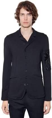 Ann Demeulemeester Embroidered Cotton Blend Jersey Jacket