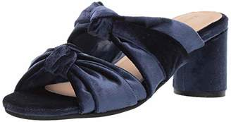 Kaanas Women's Newcastle Knotted Open Toe Slide Chunky Heel Pump