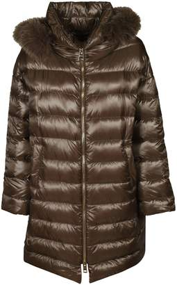 Herno Furry Detail Long Padded Jacket