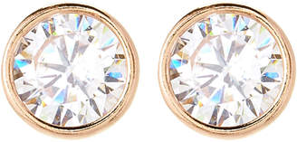 Crislu 18K Gold Sterling Silver Round-Shaped Stud Earrings