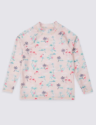 Marks and Spencer Sustainable Flamingo Rash Vest (3-16 Years)