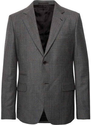 Stella McCartney Grey Slim-Fit Prince Of Wales Checked Wool Suit Jacket