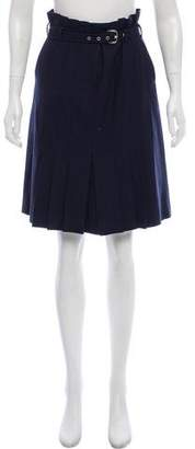 Philosophy di Alberta Ferretti Wool Belted Skirt