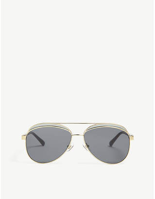 758ae7e74c4 at Selfridges · Linda Farrow N21s6 aviator-frame sunglasses
