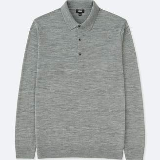 Uniqlo Men's Extra Fine Merino Knit Long-sleeve Polo Shirt