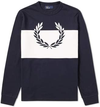 Fred Perry Authentic Long Sleeve Block Laurel Wreath Tee