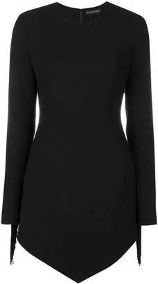 David Koma asymmetric fringed dress