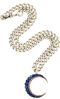 Chloé Toni + Goutal Penny One-Of-A-Kind Antique Silver And Sapphire Necklace