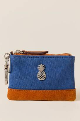 francesca's Pineapple Coin Purse in Navy - Navy