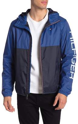Tommy Hilfiger Colorblock Packable Hood Rain Slicker