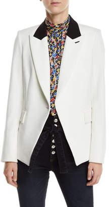 Veronica Beard Fergus Single-Button Dickey Jacket
