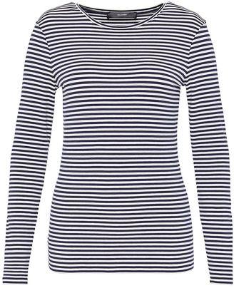 Hallhuber Striped long sleeve with round neckline