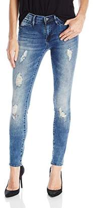 Buffalo David Bitton Women's Faith Skinny In Whitewater Wash $79 thestylecure.com