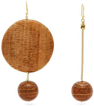 Rosantica BY MICHELA PANERO Mismatched bamboo drop earrings
