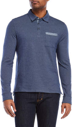 English Laundry Patch Pocket Long Sleeve Polo