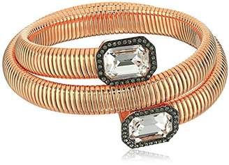 Vince Camuto Coil with Square Stone Burnt Rose Gold Bracelet