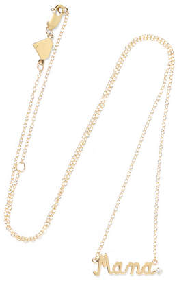 Alison Lou Mama 14-karat Gold Diamond Necklace