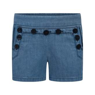 Chloé ChloeGirls Blue Denim Sailor Shorts
