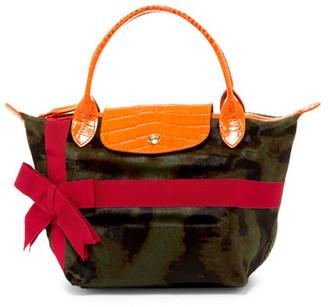 LONGCHAMP Noel Small Genuine Hair Handbag $660 thestylecure.com