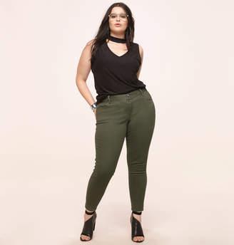 Loralette Military Twill Skinny Jean