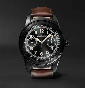 Montblanc Summit 46mm Pvd-Coated Stainless Steel And Leather Smart Watch