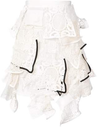 Sacai lace mini skirt
