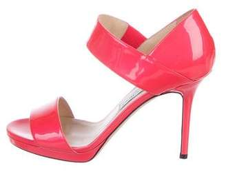Jimmy Choo Patent Leather Alana Sandals