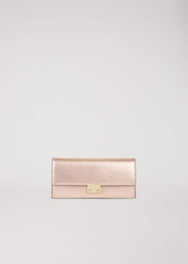EMPORIO ARMANI wallet in laminated leather