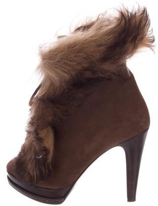 Ralph Lauren Collection Natalia Shearling Ankle Boots