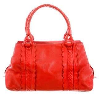 Bottega Veneta Perforated Leather Tote Red Perforated Leather Tote